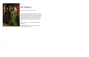 Art Analysis: Observing the Arnolfini Portrait - adapted