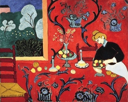 Henri Matisse, The Dessert: Harmony in Red (The Red Room), 1908
