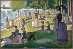 Georges-Pierre Seurat, A Sunday Afternoon on the Island of La Grande Jatte, 1884–1886
