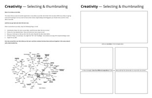 Creativity: Selections and thumbnails