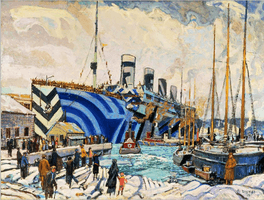 Arthur Lismer, Olympic with Returned Soldiers, 1919