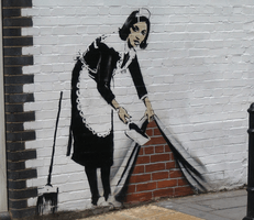 Banksy, Maid in London, 2007
