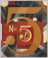 Demuth, I Saw the Figure 5 in Gold, 1928