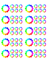 Colour wheel stickers for 5163 labels