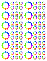 Colour wheel stickers for full sheet labels