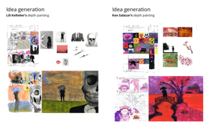 Idea generation examples for depth paintings