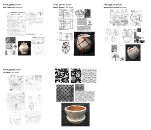 Idea generation examples for clay vessels