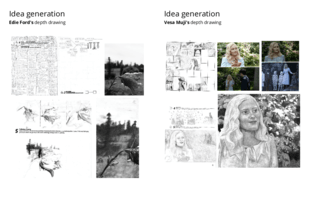 Idea generation examples for depth drawings
