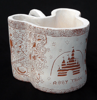Abby Tran, Engraved clay vessel, Spring 2014