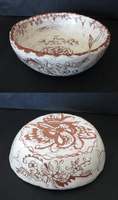 Brooklyn Kemp, Engraved clay vessel, Fall 2015