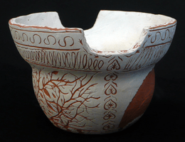 Desiree Boucher, Engraved clay vessel, Spring 2014