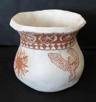 Hannah Lawrence, Engraved clay vessel, Fall 2015