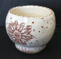 Jennie Bradley, Engraved clay vessel, Fall 2015