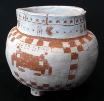Jono Bowles, Engraved clay vessel, Fall 2012