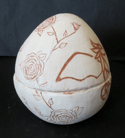 Myiah Mago, Engraved clay vessel, Fall 2015