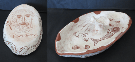 Paige Haire, Engraved clay vessel, Fall 2015