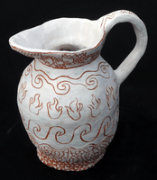 Rachel Church, Engraved clay vessel, Spring 2013