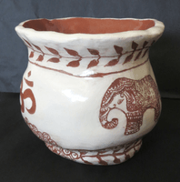 Riley Sood, Engraved clay vessel, Fall 2015