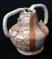 Sally Atwi, Engraved clay vessel, Spring 2013