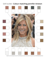 Skill-builder: Colour matching Jennifer Aniston