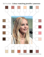 Skill-builder: Colour matching Jennifer Lawrence