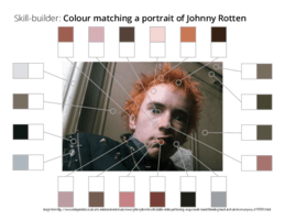 Skill-builder: Colour matching Johnny Rotten