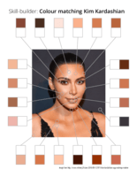Skill-builder: Colour matching Kim Kardashian