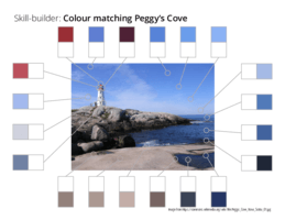 Skill-builder: Colour matching Peggys Cove