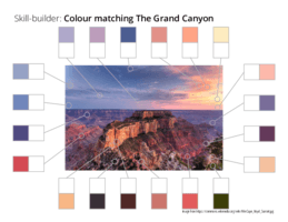 Skill-builder: Colour matching The Grand Canyon
