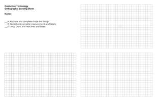 Orthographic drawing template
