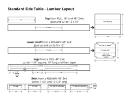 Table project layout