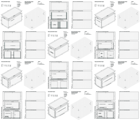 Box project drawing exercises