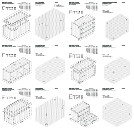 Box project isometric drawings