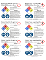 Painters Touch, apple red 2x3 chemical safety labels