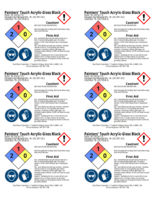 Painters Touch, black gloss 2x3 chemical safety labels