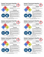 Painters Touch, deep blue 2x3 chemical safety labels