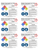 Painters Touch, sun yellow 2x3 chemical safety labels