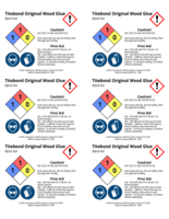 Titebond Original Wood Glue 2x3 chemical safety labels