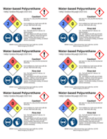 Oil-modified Polyurathane 2x3 chemical safety labels