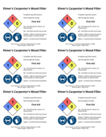 Wood filler 2x3 chemical safety labels