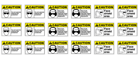 2x3 Machine PPE safety labels