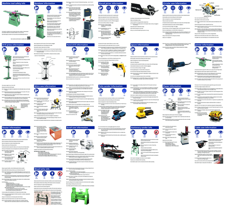 Tool safety information booklet