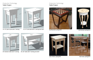 Table project gallery