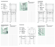 Orthographic table drawings