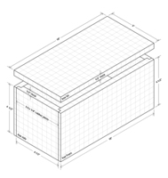 Isometric drawing of rabbet jointed box